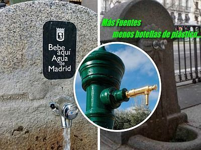 Más fuentes de agua potable y menos botellas de plástico