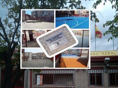 El colegio Isaac Peral de Carabanchel reformado con los presupuestos participativos