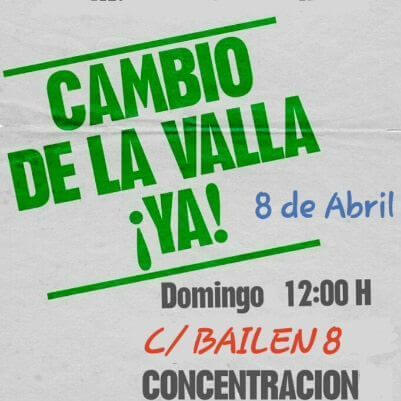 Cambio de la valla, ya…!! Concentración ante el arzobispado de Madrid