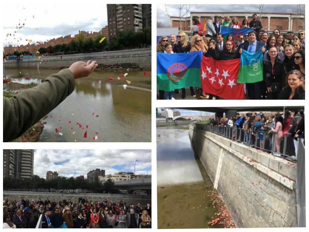 Ayer el río Manzanares acogió la Ceremonia del Dia Internacional del Pueblo Gitano.