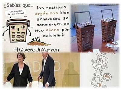 """Cubo Orgánico Marron, una gran idea, Carabanchel tambien lo quiere (""""Quiero un marrón"""")"""
