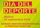 Polideportivos gratuitos el proximo martes 25 de septiembre en Carabanchel y Latina