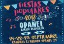 Fiestas Populares de Opañel 2018