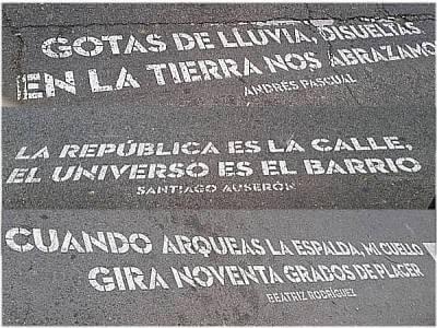 """""""Versos al paso"""" en Carabanchel"""