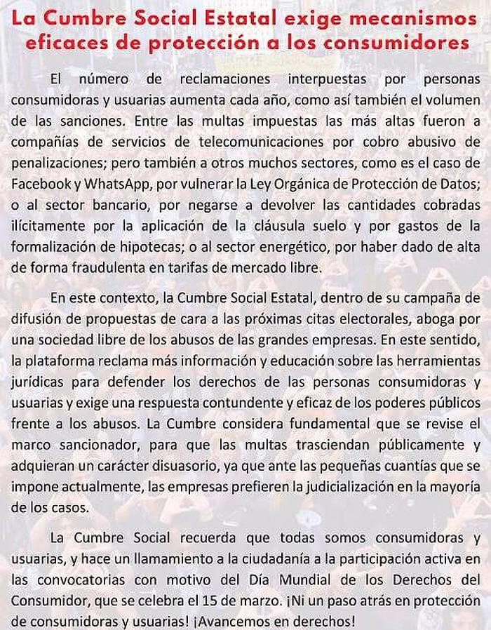 Cumbre Social Estatal
