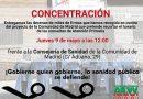 Concentración el 9 de Mayo para entregar a la Comunidad de Madrid miles de firmas contra el recorte de horario en Atención Primaria