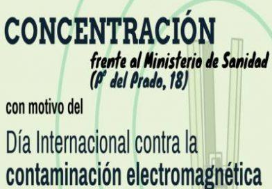 Concentración para pedir una moratoria a la tecnología 5G ante el Ministerio de Sanidad