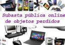 460 dispositivos electrónicos de la Oficina de Objetos Perdidos a subasta pública online