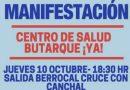 La manifestación por el Centro de Salud Butarque, inicio de movilizaciones en Carabanchel, Villaverde, Usera y Perales del Rio