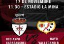 """En La Mina  este domingo, R.C.D. Axpo  Carabanchel-Rayo Vallecano """"B"""""""