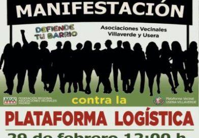 Villaverde y Usera protestan de nuevo contra la plataforma logística PALM-40