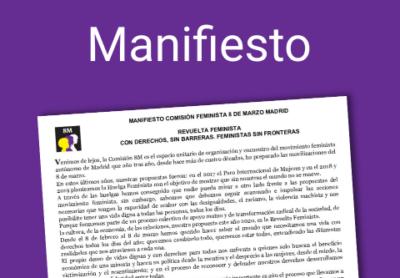 MANIFIESTO 8M 2020