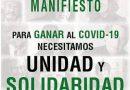 """""""Ganar al COVID-19"""": Llamada a la unidad y a la solidaridad, que promueve Recortes Cero"""