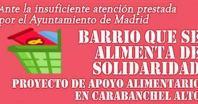 La Asociación Vecinal de Carabanchel Alto continúa con el proyecto «Barrio que se alimenta de solidaridad»
