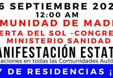 Madrid acoge una manifestación estatal para demandar la inmediata aprobación de una ley de residencias