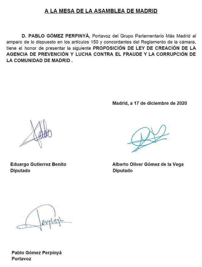 Fraude y la Corrupción de la Comunidad de Madrid