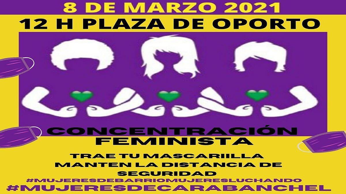 8M-2021 Concentración #MujeresDeCarabanchel