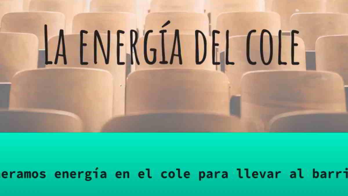 """""""La Energía del Cole"""": Proyecto de Greenpeace que presenta al gobierno para acelerar la transición energética"""